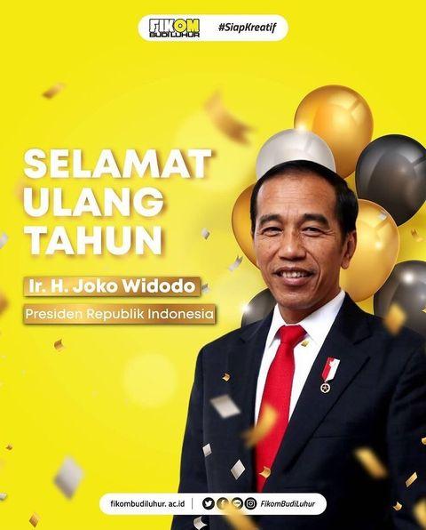 Selamat Ulang Tahun Ir. H. Joko Widodo