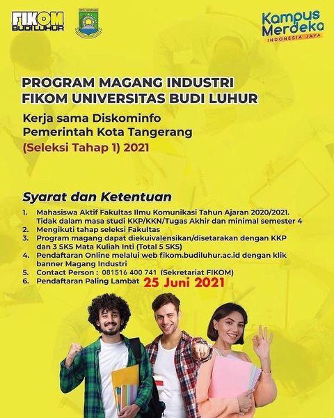 Program Magang Industri FIKOM Universitas Budi Luhur