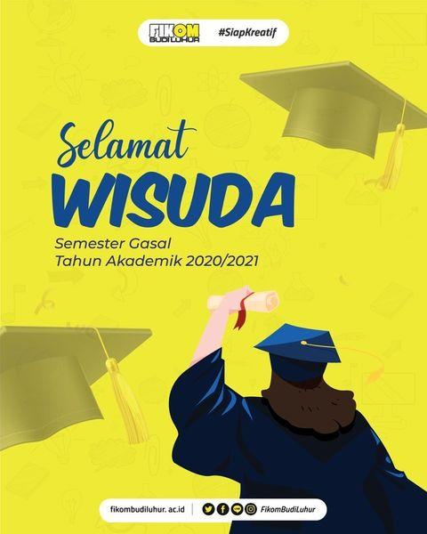 Selamat Wisuda Semester Gasal Tahun Akademik 2020/2021