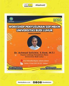 Seminar Workshop Penyusunan SOP MBKM Universitas Budi Luhur