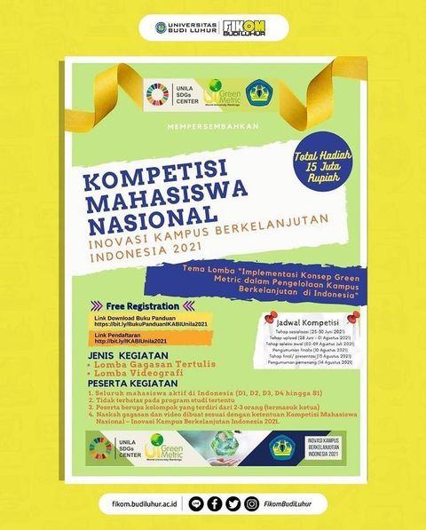 Kompetisi Mahasiswa Nasional: Inovasi Kampus Berkelanjutan Indonesia 2021