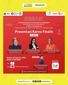 Presentasi Karya Finalis Program dari Lomba Mikroblog yang diselenggarakan oleh Maritim Indonesia