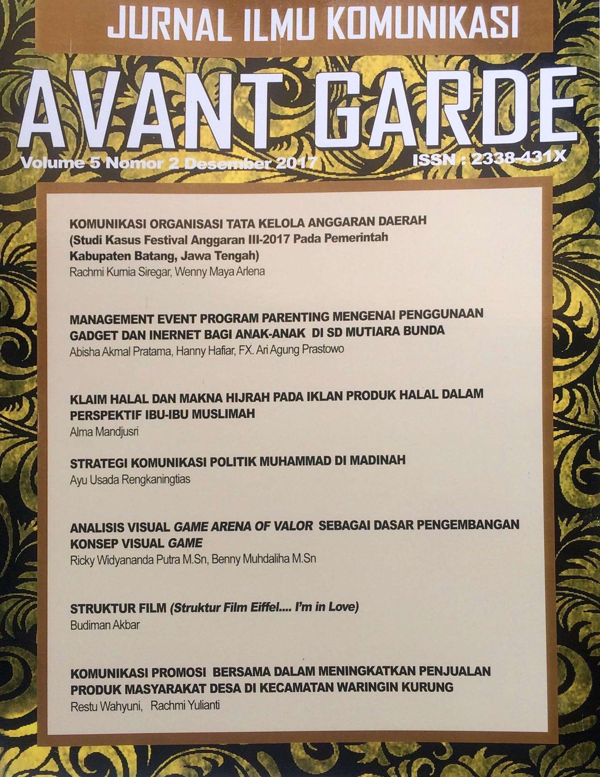 Jurnal Avant Garde Vol. 5 No. 2
